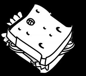Sandwich de jamón y queso vegetal de Miguel de Málaga